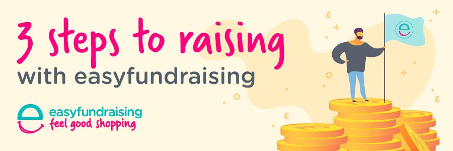 3 steps easyfundraising