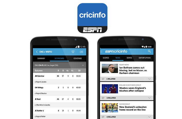 The best cricket apps for the 2017 season