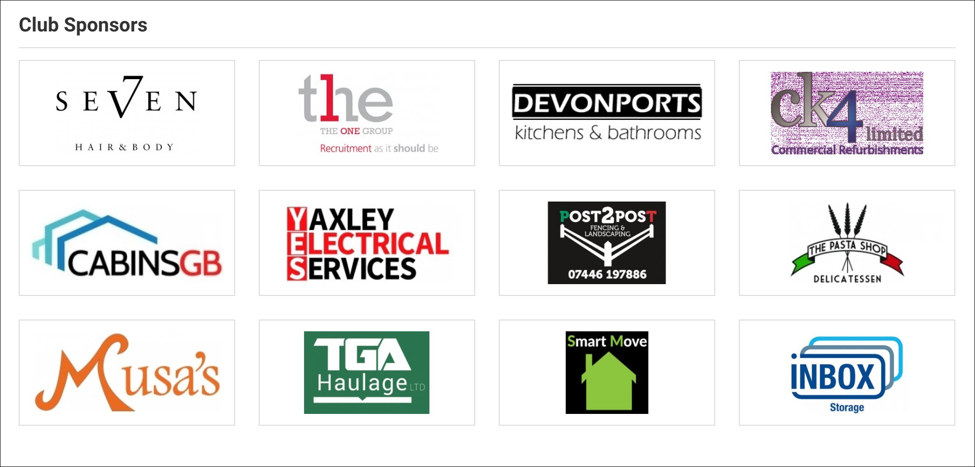 ICA Sponsors