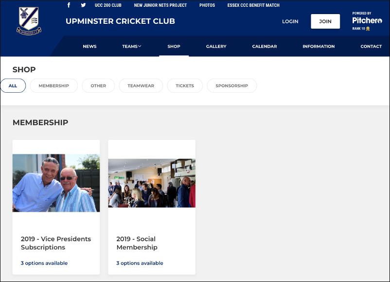 Upminster Cricket Club - Membership