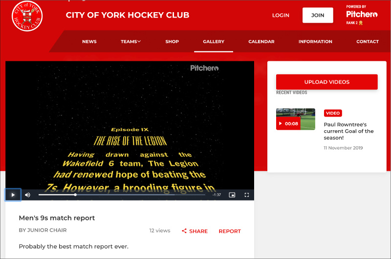 York Hockey Club - Match Report