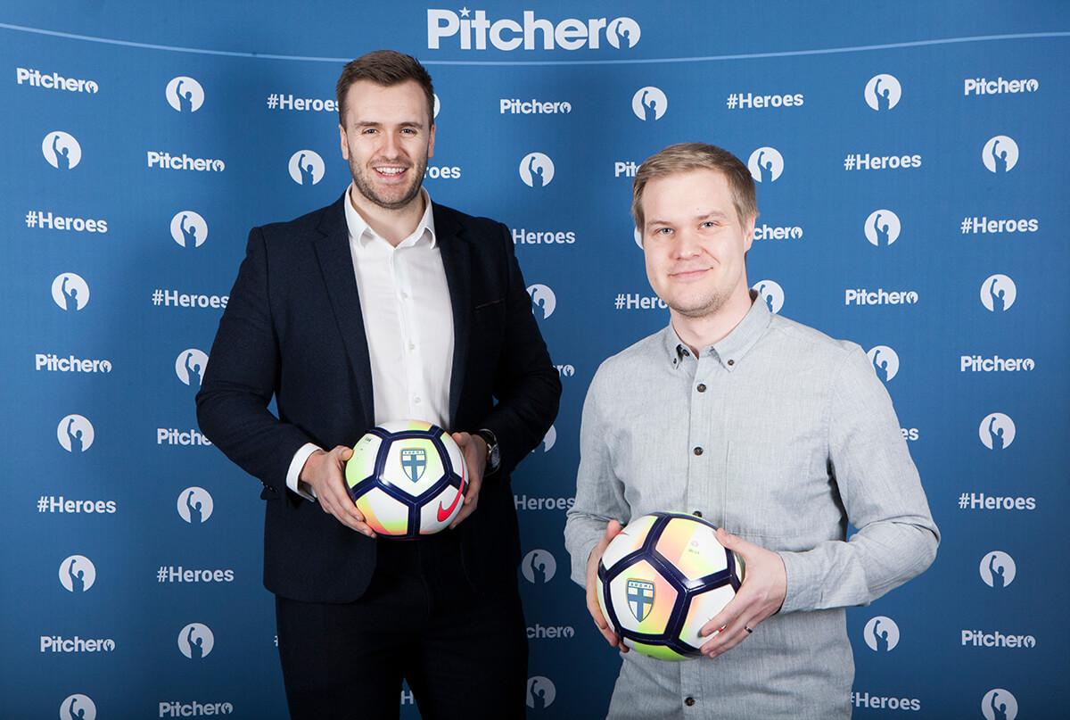 (l to r) Ben Dannat - Pitchero, Taneli Sopanen - Finland FA-1