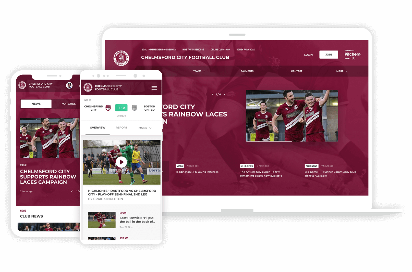 pitchero club website