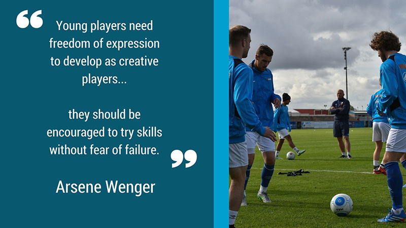 Arsene Wenger quote about footballers expressing themselves