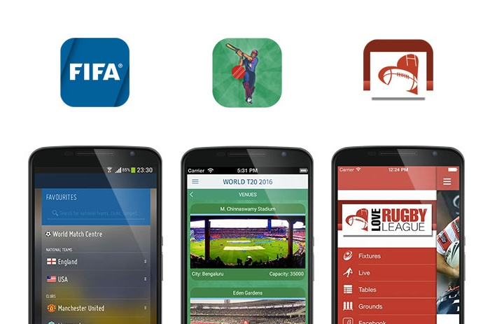 FIFA and Love Rugby League app screenshots