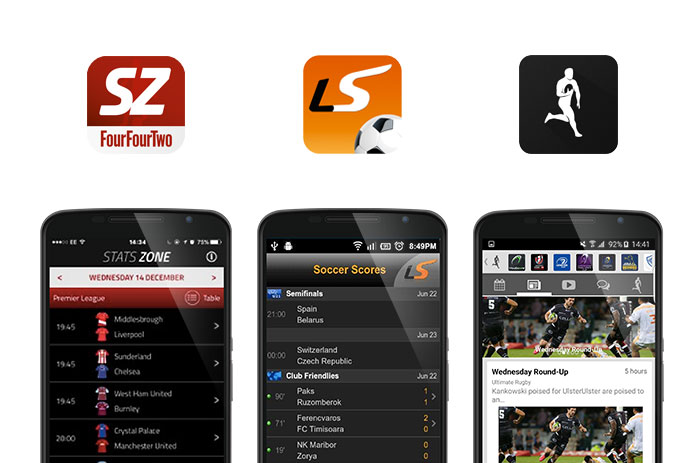 Stats Zone, Live Score and Ultimate Rugby screenshots