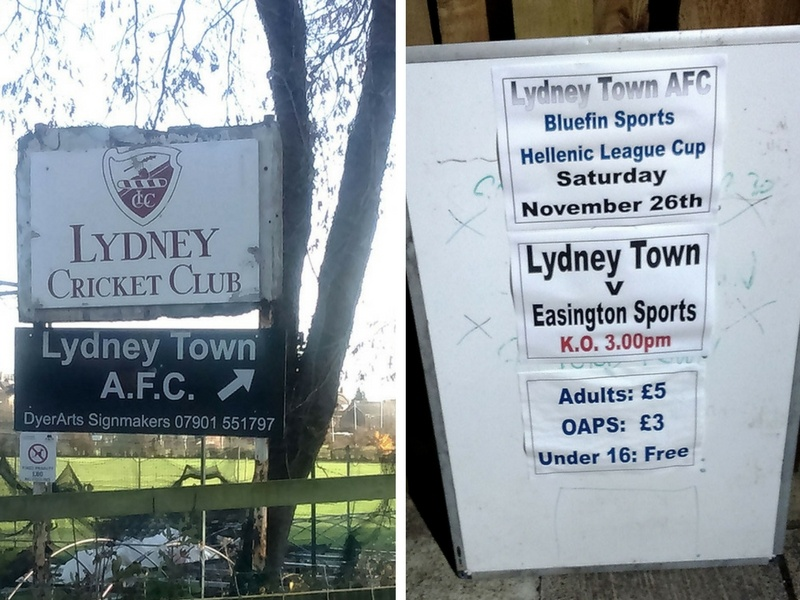 Lydney Town Recreational Ground entrance sign