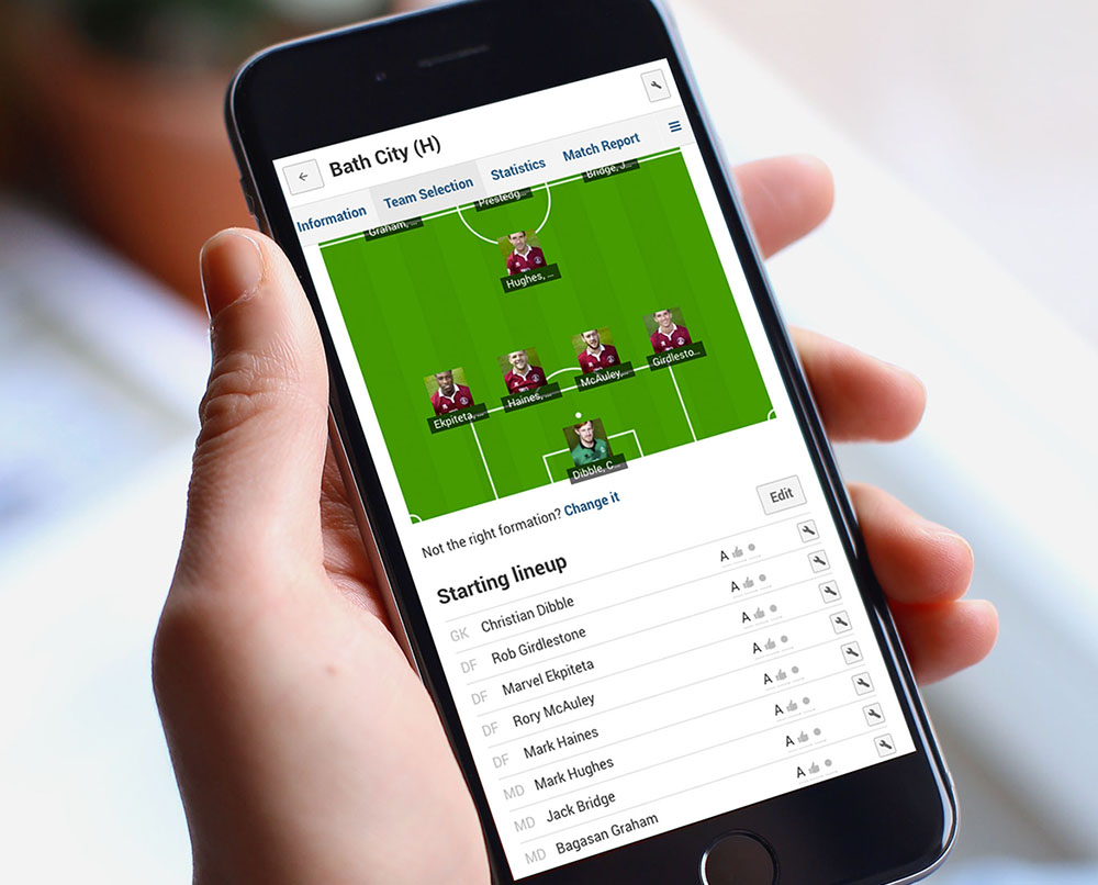mobile sports admin apps