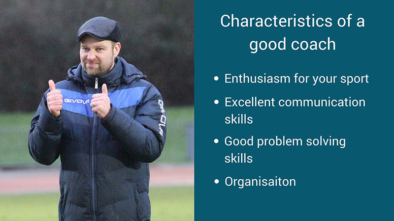 characteristics of a good coach graphic