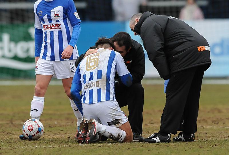 footballer down injured