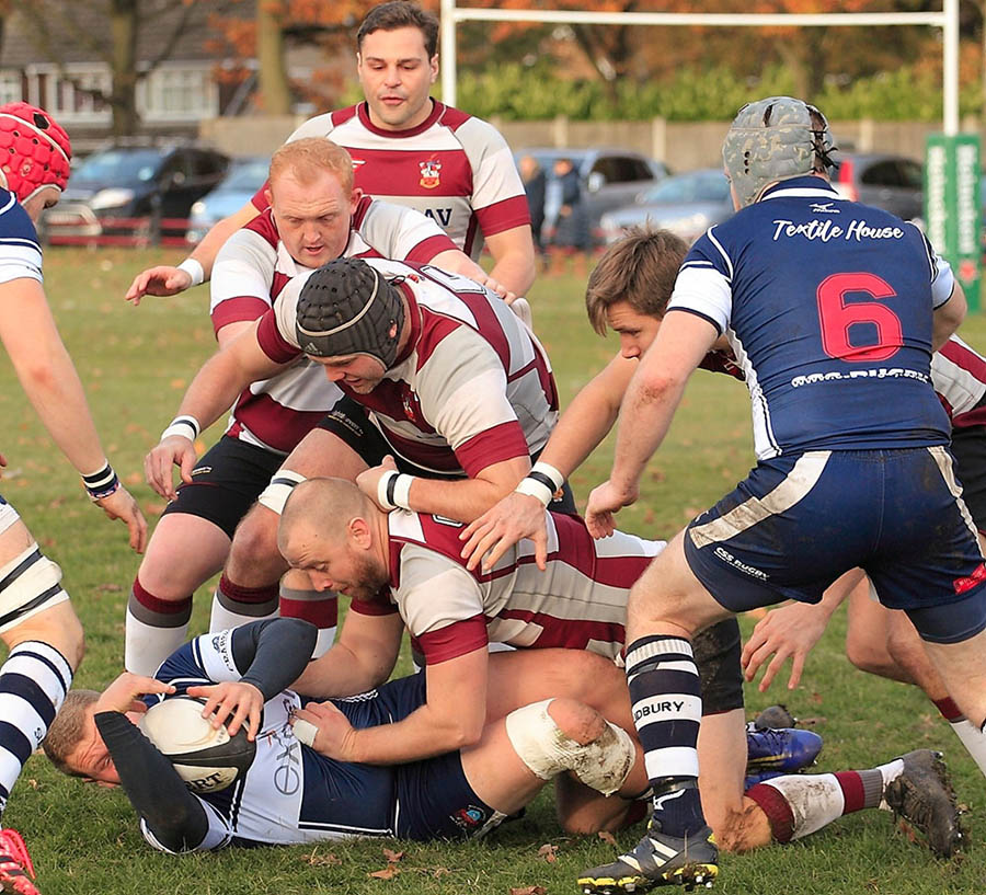 rugby union action shot Brentwood RFC