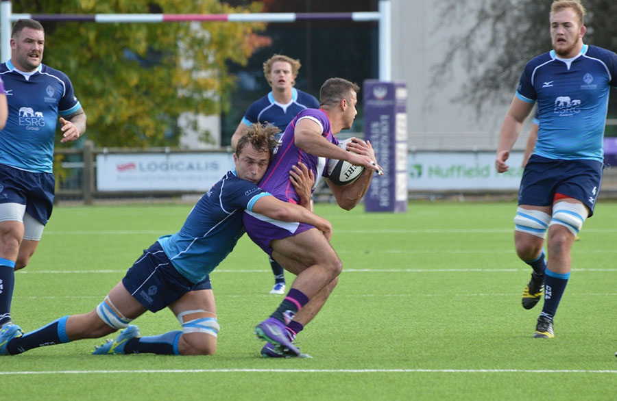 rugby union action shot Darlington Mowden RFC