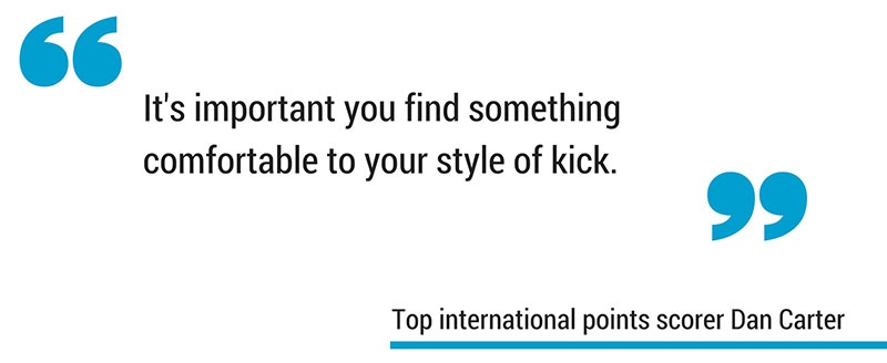 Dan Carter place kick in rugby quote