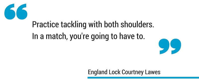Courtney Lawes tackling in rugby quote