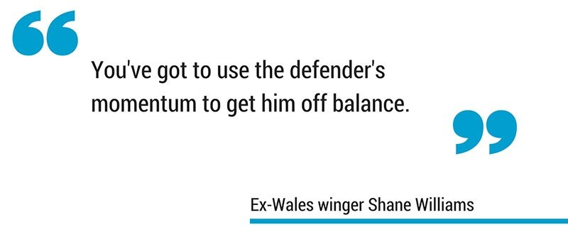 Shane Williams side step in rugby quote
