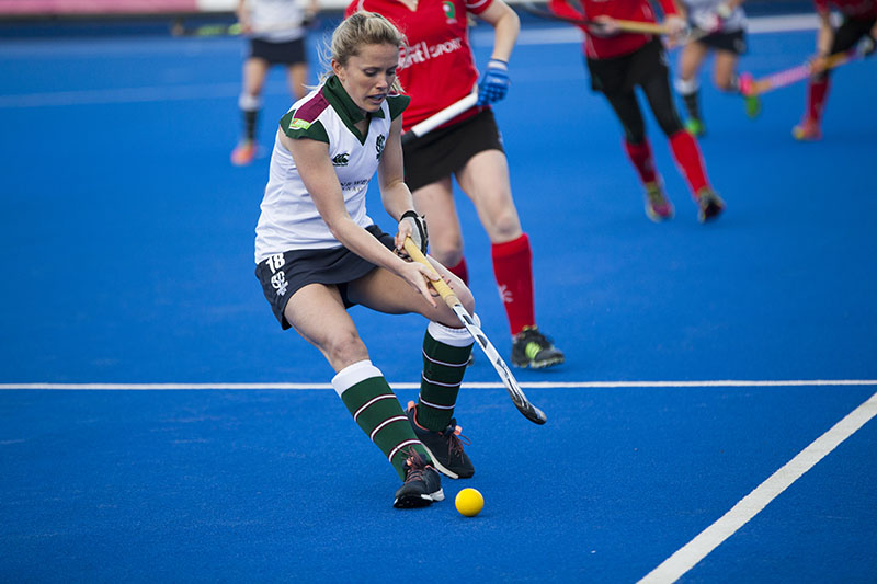 sports photography image of a female hockey player