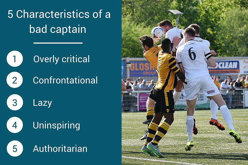characteristics of a bad captain graphic