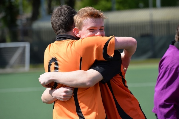 hockey players show passion on the pitch