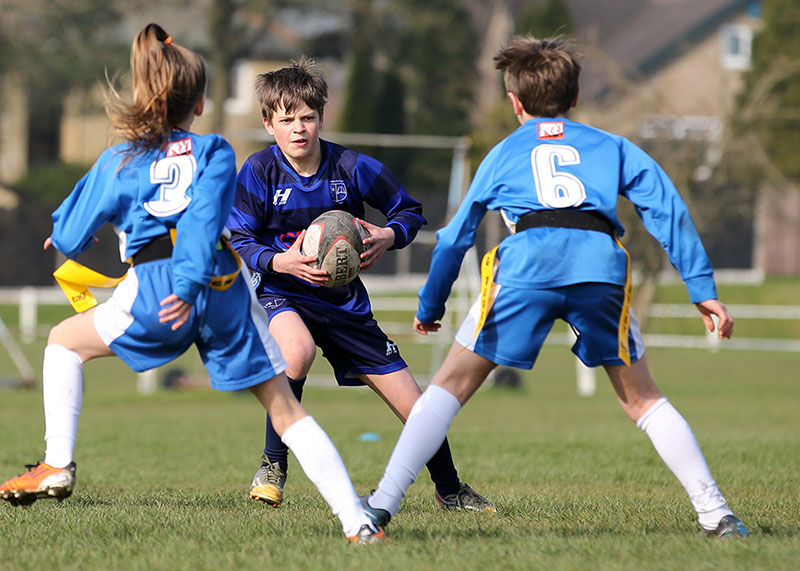 youth sports tag rugby match