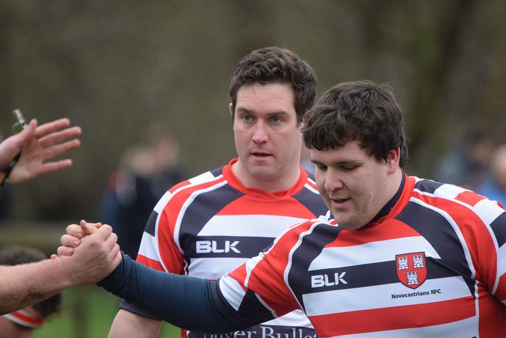 rugby team celebrate