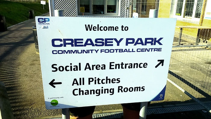 Creasey Park entrance sign