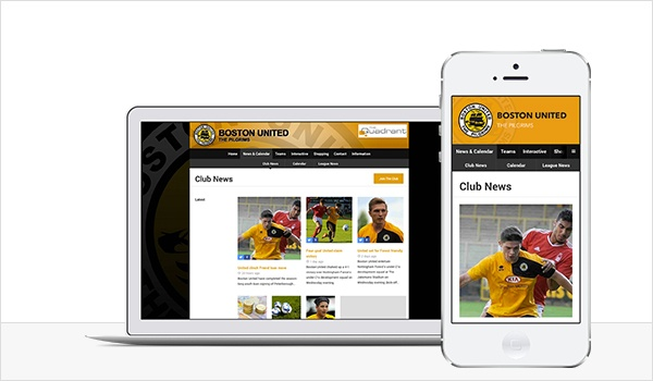 Responsive football club website