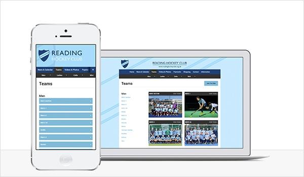 Responsive hockey club website