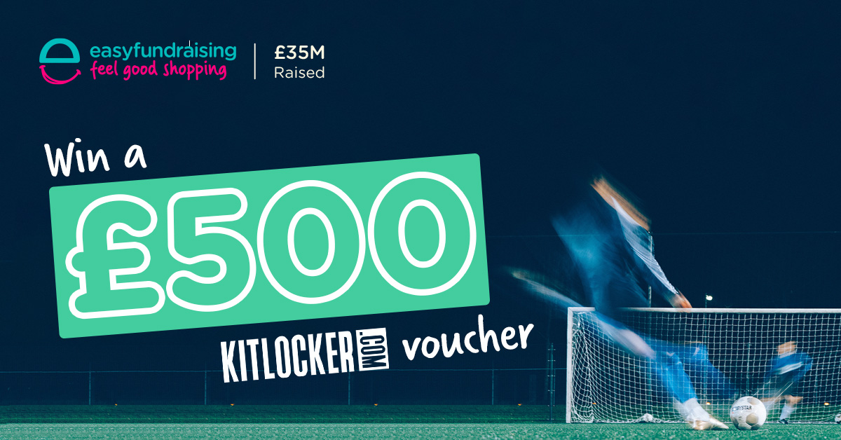 Win £500 with kitlocker and easyfundraising